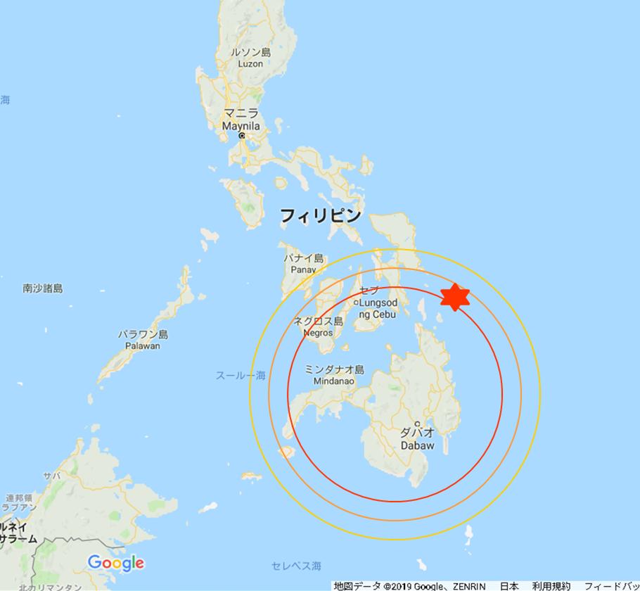 フィリピンの中のミンダナオ島の位置について