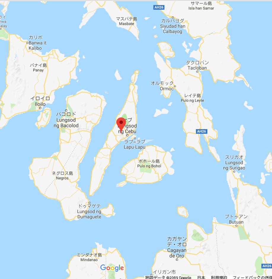 セブ島 地図 オスロブへの行き方