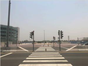 ドバイ 留学 ES Dubai バス停から教室までの行き方 2