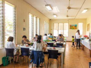 フィリピン留学 ダバオ留学のEandG校 ダイニングルーム